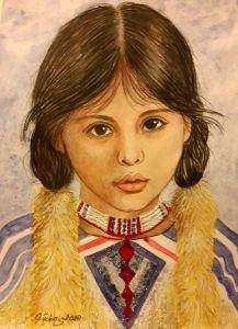 Kızılderili kız 4