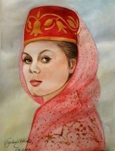 126-Karaçay Türk kızı