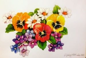 Bir demet çiçek