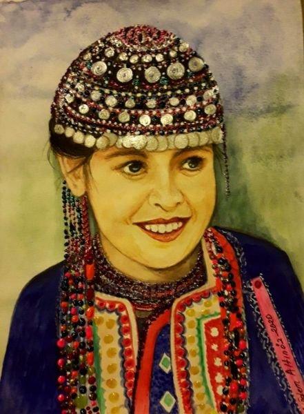 160-Ural-Altay bölgesinden bir Türk kızı