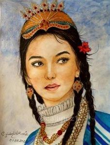 96- Uygur Türk kızı