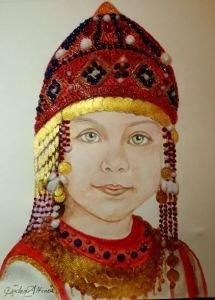 Çuvaş Türk çocuğu