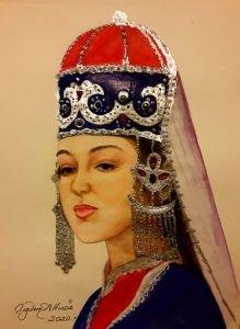 140-Balkar-Kabardey Türk kızı