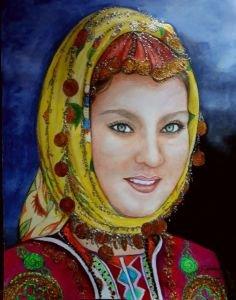92 - Çorum yöresi Türk kızı